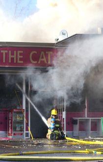stadium fire the cat house