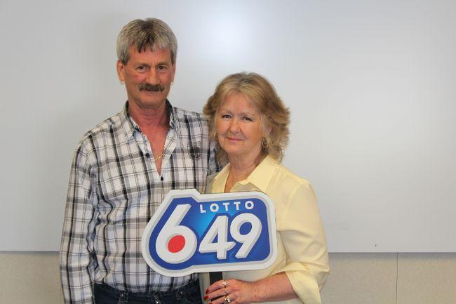 Edmonton couple Barbara and Douglas Fink won $8.1 million on a February LOTTO 6/49 draw. Photo Supplied