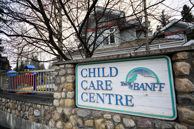 The Banff Child Care Centre in Banff, Alta. (Daniel Katz/ Crag & Canyon/ Postmedia)