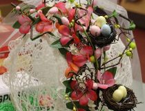 Spun sugar Easter Egg decoration