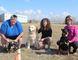 Michelle Goertzen with Queenie, Martha Olfert with Huey, and Trudy Thiessen with Rouge.