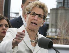 Premier Kathleen Wynne announces the Liberals Fair Housing Plan in Liberty Village on Thursday, April 20, 2017, in Toronto. (Veronica Henri/Toronto Sun)