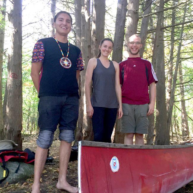 Andrew Starblanket, Krista Bowman and Erik Sorensen will be among more than 30 people embarking on an 850-kilometre canoe trip July 21. Tim Wilson Photo