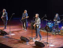 The TransCanada Highwaymen - from left, Steven Page, Moe Berg, Craig Northey and drummer Chris Murphy - perform in St. Catharines earlier this month. (Julie Jocsak/Postmedia Network)