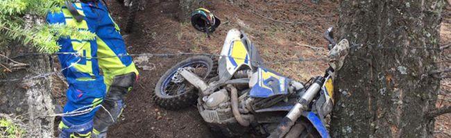 Dirt bike barbed wire in Porcupine Hills