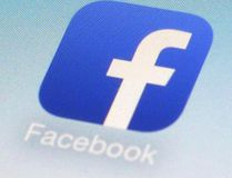 Facebook app icon. (Patrick Sison/AP Photo/Files)