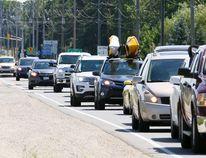 Long weekend traffic. Owen Sound Sun Times file photo.