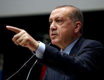 Turkey's President Recep Tayyip Erdogan has been given an honourary doctorate by the Islamic University of Jamia Milli. (Press Presidency Press Service via AP, Pool)