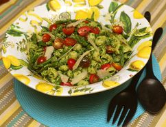 Cold Asparagus Pesto Pasta Salad. (MIKE HENSEN, The London Free Press)