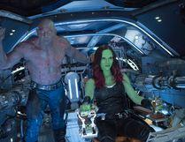 "Drax (Dave Bautista) and Gamora (Zoe Saldana) in ""Guardians Of The Galaxy Vol. 2."" (Chuck Zlotnick/Marvel Studios)"