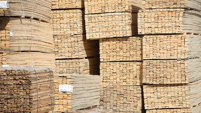 Stacks of lumber are shown at NMV Lumber in Merritt, B.C., Tuesday, May 2, 2017. THE CANADIAN PRESS/Jonathan Hayward