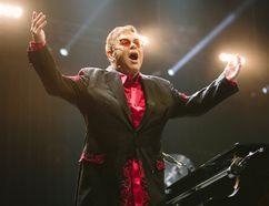 Elton John performs during his Wonderful Crazy Night Tour 2017 at Montana State University in Bozeman, Mont., on March 8. (Adrian Sanchez-Gonzalez/The Associated Press)
