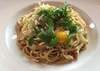 Spaghetti carbonarra at Antipazzo -