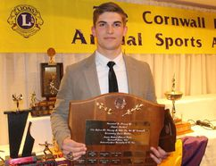 Jakob Loucks, named Jacques Richard Memorial Trophy winner.