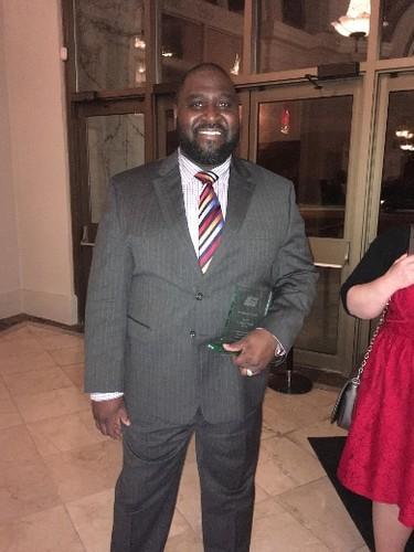 Toronto Police Const. Martin Douglas was recognized with the John Mungham Award at the Toronto Crime Stoppers dinner on Wednesday, May 10, 2017. (Joe Warmington/Toronto Sun)