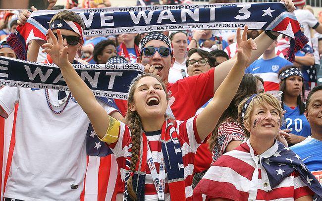 Women's World Cup soccer fans