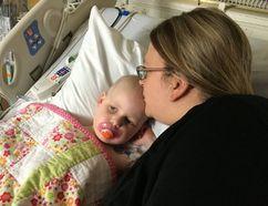 Lindsey Marofke and daughter Greta in Cincinnati Children's Hospital. Supplied photo