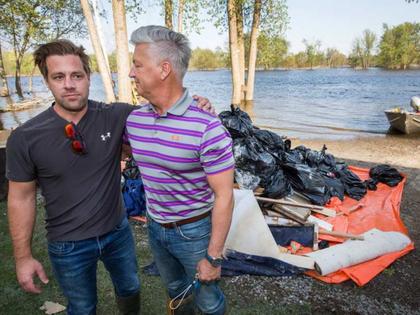 Alexandre Morin, left, seen with his dad, Pierre