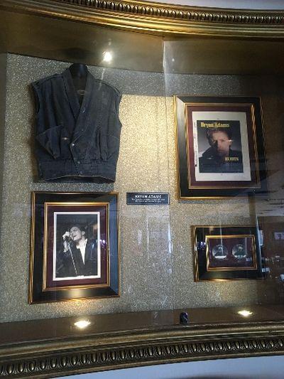 Bryan Adams display at the Hard Rock Cafe. (Joe Warmington/Toronto Sun)