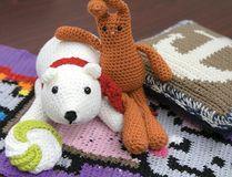 Angel St. Gelais and her crochet creations. (Chris Abbott/Tillsonburg News)