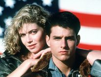 Tom Cruise and Kelly McGillis in Top Gun. (Handout Photo)