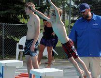 Photo by Jesse Cole Reporter/Examiner The Stony Plain Sharks Swim Club kicked off their summer season last Tuesday, May 23.