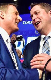 Andrew Scheer with Maxime Bernier