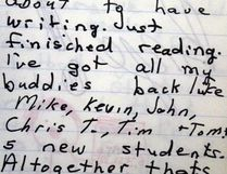 Grade 5 teacher and classmates at St. Bernadette are noted in September 1977 journal entry.