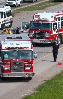 First responders injured on Deerfoot Trail