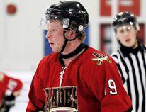 Blenheim Blades forward Nick De Lyzer of Merlin plays during the 2016-17 Provincial Junior Hockey League season. (MARK MALONE/The Daily News)