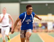 Chuba Hubbard wins the 100 metre senior men's race during the 2017 ASAA High School Track and Field Provincials at Foote Field. Ian Kucerak Postmedia Network