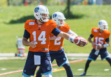 McLeod Bethel-Thompson during Toronto Argonauts training camp at York University in Toronto, Ont. on Wednesday June 14, 2017. Ernest Doroszuk/Toronto Sun/Postmedia Network