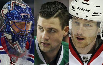 Henrik Lundqvist, Jamie Benn and Duncan Keith