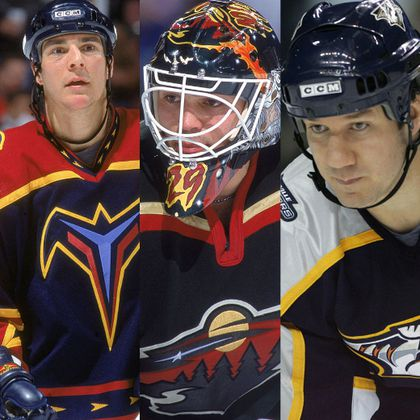 Steve Staios, Jamie McLennan and Scott Walker