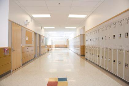 high school corridor