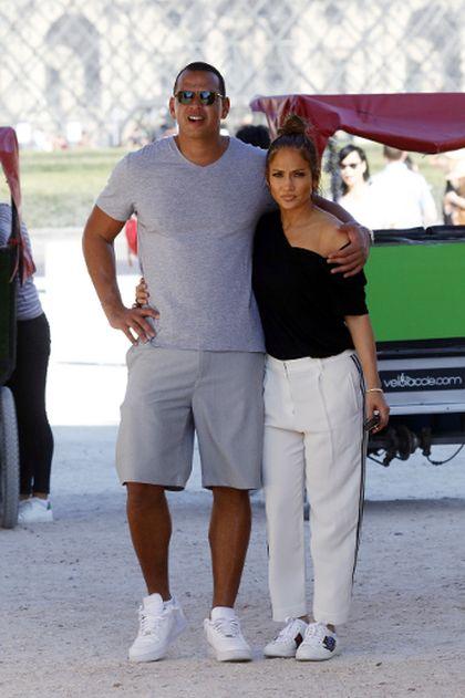 Jennifer Lopez and her boyfriend Alex Rodriguez