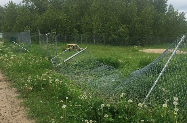 Vandals cause damage to dog park