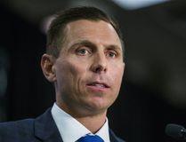 Ontario PC leader Patrick Brown looks on as the 2017 Ontario budget is announced on Thursday, April 27. (ERNEST DOROSZUK/TORONTO SUN)