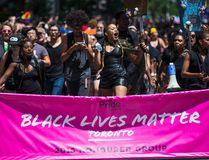 Black Lives Matter at Toronto's Pride parade on Sunday, July 3, 2016. (Ernest Doroszuk/Toronto Sun)