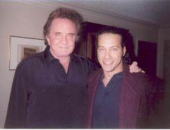 Johnny Cash and Bill Welychka.