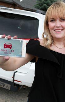 Brooke Garcia Pink Car