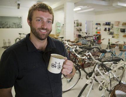 Ben Cowie has opened The Bicycle Cafe in London. (DEREK RUTTAN, The London Free Press)