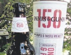 Innis & Gunn 150 Maple & Thistle Rye Ale and Steam Whistle Hudson Bay opener, right.
