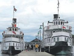 Cruises on the Segwun and sister steamship Wenonah II leave from Muskoka Wharf in Gravenhurst. (Jim Fox/Special to Postmedia News)