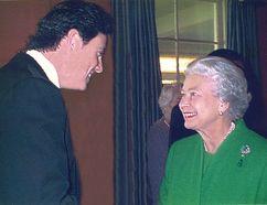 Byron Thomas meeting Queen in 2002.