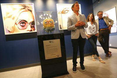 Artist Gina Godfrey unveils her contemporary brain sculpture