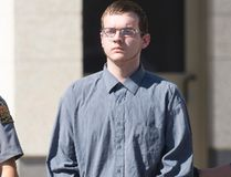 Skylar Prockner leaves the Court of Queen's Bench in Regina after being sentenced to life in prison for the Jan. 12, 2015 murder of Hannah Leflar. (Michael Bell/Postmedia Network)