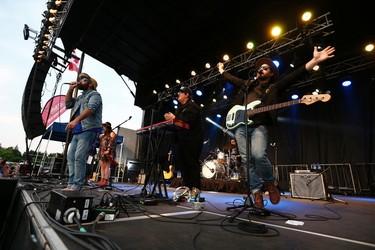 The Strumbellas perform during Seven Music Fest at Mission Park in St. Albert on Saturday, July 8, 2017. Ian Kucerak / Postmedia (Standalone)