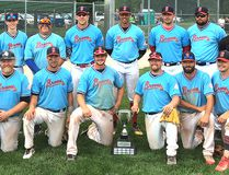 The Sarnia Braves won the 2017 Lakeside Invitational senior baseball tournament Sunday, July 9, 2017, in London, Ont. (Contributed Photo)