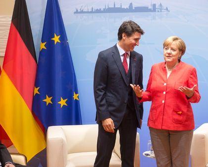 Trudeau Merkel